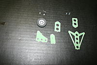 Name: IMG_6769.jpg Views: 360 Size: 154.7 KB Description: Now we are going to assemble the rudder/tail wheel assy.  Locate the parts shown.