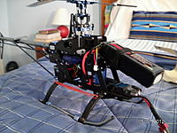 Name: Under the hood.jpg Views: 106 Size: 181.5 KB Description: Align 430XL brushless outrunner, 2100mah battery, Hitec cyclic servos and JR tail servo, Futaba GY401 Gyro, and an eight channel Corona reciever.