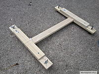 Name: Cradle frame with adjustable legs.jpg Views: 133 Size: 247.0 KB Description: Cradle BOM: Furniture T bolts for the legs. 1/4-20 blind nuts for fastening them to the wood, and wingnuts (glued on with green loc-tite) for adjustments. Parts can be obtained from Home Depot, Lowes, Aco, Ace...etc... here in the USA.