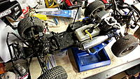 Name: 20130513_234617.jpg Views: 175 Size: 194.5 KB Description: I wore out the steering servo in no time. Last weekend I swapped out the OEM's for HV Hitecs and a 3300T rx. The whole system runs directly on a LifePo4 pack.
