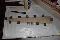 "Name: m_DSCF1745.jpg Views: 6 Size: 31.7 KB Description: The top 1/16"" cross-grain balsa skin under construction."