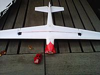 Name: Northeast-20120630-00237[1].jpg Views: 115 Size: 204.2 KB Description: Put some lead up front.. or up to a 800 2s for ballast and make it a glider