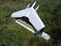 Name: Northeast-20120614-00217.jpg Views: 194 Size: 309.1 KB Description: Here in testing..    $10 launcher! Launches itself off two 6' metal guides using only thrust!  Just punch and go straight up