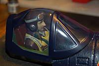 Name: F4U Corsair_Build_Cockpit-Pilot_Mod_11-05-2010_0019.jpg Views: 290 Size: 49.5 KB Description: Tinted the canopy with Ritz Royal Blue dye.