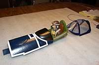 Name: F4U Corsair_Build_Cockpit-Hatch_01-04-2011_0002.jpg Views: 259 Size: 53.5 KB Description: I epoxied the battery hatch to the cockpit module.