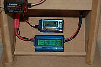Name: Motot-Prop_Dyno_3-12-2011_0006.jpg Views: 252 Size: 59.4 KB Description: *My Motor/Prop Dyno*   Easy read-out of the Watts Meter and the K1 Electronic Prop Tach all at once.