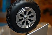 "Name: Sandancer_FMS 1400 P-51 BBD-UnBoxing_12-28-2012_0069.jpg Views: 195 Size: 184.4 KB Description: The 3""/76mm scale wheel/tire assembly is a great improvement."