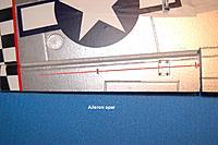 Name: Sandancer_FMS 1400 P-51 BBD-UnBoxing_12-28-2012_0048.jpg Views: 191 Size: 153.4 KB Description: The aileron control surface spar.