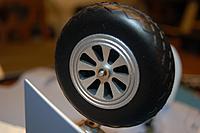 """Name: Sandancer_FMS P-51B Shangri La-Un-Boxing_02-12-2013_0029.jpg Views: 205 Size: 185.4 KB Description: The detailed 3"""" wheel/tire combo."""