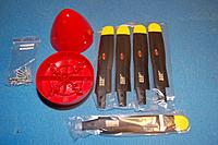 Name: Sandancer_FMS P-51B Shangri La-Un-Boxing_02-12-2013_0096.jpg Views: 181 Size: 159.6 KB Description: Prop/spinner combo w/3mm x 17mm bolts and ny-locks.