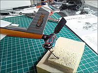 Name: HBCPX_Tail_Motor_Heatsink.jpg Views: 214 Size: 150.5 KB Description: Tail motor with the blue heatsink
