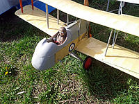 Name: DH2_4_20150517.jpg Views: 85 Size: 158.9 KB Description: Pilot is a bit apprehensive because of the wind. Still, plane went home in one piece after a couple of short flights. Will try again when it's quieter.