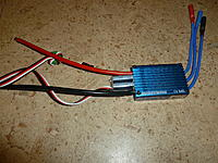 Name: P1060836.jpg Views: 55 Size: 259.2 KB Description: 80 amp continous, 120amp burst, weighs 82 grams without lipo connector, 4amp sbec, 5v or 6v to servos, $65!