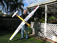 Name: IMG_2440.jpg Views: 147 Size: 137.5 KB Description: My first glider and my first scratch-built. The glider is based on the Schweizer SGS 1-34. There was no templates for the aerofoil or the fuselage bulkheads,