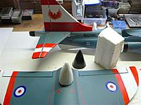 Name: P1020815.jpg Views: 160 Size: 53.6 KB Description: When finish painting it I'm going to fibre glass bottom of the m/wing and the EL. plain using very fine gator cloth for extra strength and reinforce hinges.