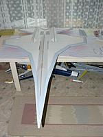 Name: P1030089.jpg Views: 102 Size: 48.0 KB Description: Sealing off the balsa leading edges before painting.