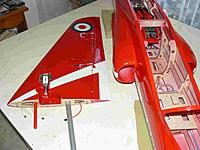 Name: P1050041.jpg Views: 196 Size: 180.3 KB Description: 20mm dovels fitted to the wing formers to support the landing gear and aligned with the alloy tube.