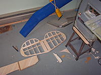 """Name: Building Biplane2 005.jpg Views: 100 Size: 1.15 MB Description: Here I have removed most of the 1/8"""" sheet in the elevators."""