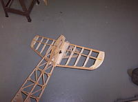 Name: Building Biplane2 012.jpg Views: 93 Size: 1.11 MB Description: The tail is removable it is attached with nylon bolts