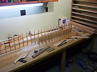 Name: Building Biplane2 016.jpg Views: 80 Size: 1.15 MB Description: Joining the bottom wings