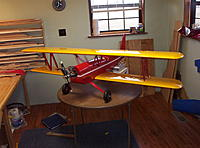 """Name: Building Biplane2 033.jpg Views: 120 Size: 1.16 MB Description: I have made the """"N"""" struts. The wings don't need the struts but the wings will bend in flight and the struts keep them togather. The top alerons opperate with slave struts and uneven bending would give uncomanded aleron deflections."""