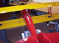 Name: Building Biplane2 034.jpg Views: 101 Size: 1.16 MB Description: In stalling  and rigging aleron servos and slave struts