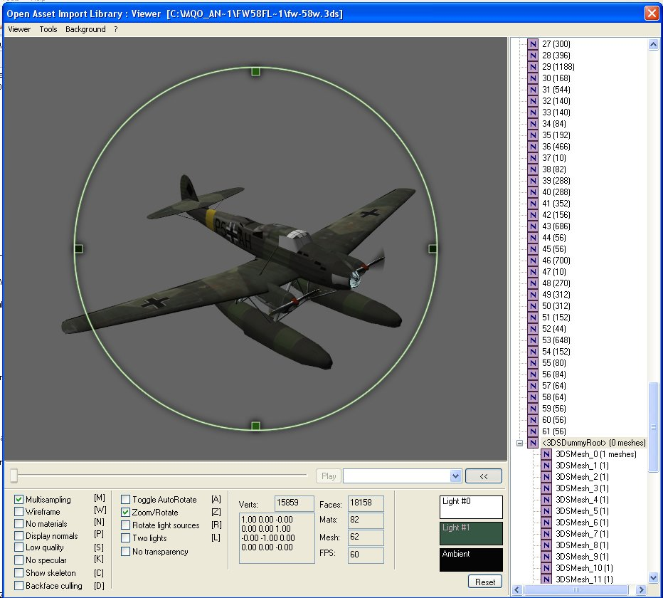 I have a FW-58 floatplane in FlightGear, import and mod process to Il-2