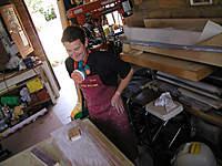 Name: 1.jpg Views: 991 Size: 111.1 KB Description: Steve doing hard Yakka sanding the polyester resin infused mdf.
