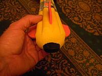 Name: DSCN0172.jpg Views: 38 Size: 134.6 KB Description: The keycam snug in the nose of the foam missile