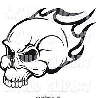 Name: black-and-white-flaming-skull-401740.jpg