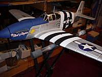 Name: P1060901.jpg Views: 397 Size: 80.7 KB Description: Parkzone BL BNF Mustang with K&A Model's B model conversion kit. 56 Flights, 1 Crash. Active.