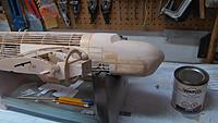 Name: IMG_20191022_194352.jpg Views: 13 Size: 927.6 KB Description: Lower nose in-fill spackled, sanded and lacquered.