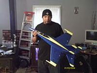 Name: IMAG0138.jpg Views: 392 Size: 7.3 KB Description: Art-Tech - F/A 18 Blue Angel's Scheme 64mm EDF 3s Setup.