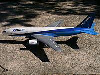 Name: PICT0389.jpg Views: 286 Size: 310.7 KB Description: E-Flite Super Airliner. Coverted It To Twin 64mm Setup. 5000kv BL Inrunners and two 2200 20c Lipo W/2-60a ESC's. She is a smoker