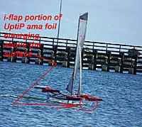 Name: MPX Fire Arrow-First Full Flying Foiling--i-flap emerging.jpg
