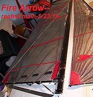 Name: Fire Arrow reefed main---5-23-15 001.JPG Views: 60 Size: 268.3 KB Description:
