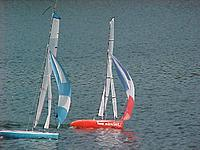 Name: America One and Spinnaker 50-worlds first production RC spinnaker boats.jpg