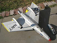 """Name: IMG_8739.jpg Views: 86 Size: 266.6 KB Description: Simple steerable nose gear setup. Had to use """"Z"""" push rod because I am squeezing all the control movement in line with limited models in DX6i."""