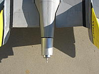 Name: IMG_8740.jpg Views: 84 Size: 230.1 KB Description: Thrust angle for the pusher, with motor cowl on.