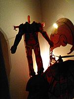 Name: Ironman heads3_222100.jpg Views: 145 Size: 82.7 KB Description: The EB Brands RCEXTREMEHERO Ironman standing tall on the shoulder of Robert downey Jr's RC Ironman plane that his office bought for him as a gift for making the Avengers movie. -Greg Tanous