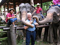 """Name: .jpg Views: 82 Size: 308.0 KB Description: Yes, that's me being """"slobbered"""" on by some Asian elephants."""