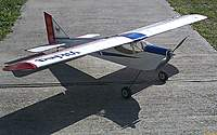 Name: Viking 3.jpg Views: 150 Size: 120.1 KB Description: Fast for high wing plane but floats in for landings. Use 3S 5000 LiPo for 25 minute flights!
