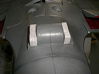 Name: CIMG3429.jpg Views: 200 Size: 188.4 KB Description: Extra foam blocks to help secure ball turret and provide support for the new guns. eventually painted black.