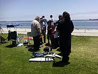 Name: clinic4th.jpg Views: 128 Size: 85.1 KB Description: 4th of July 2010. The local legend Dick Vader made a guest appearence. Had a F9F Panther, F-86 Sabre EDF, and my Weasel.