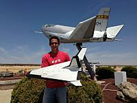 Name: IMG_0481.jpg Views: 123 Size: 237.2 KB Description: HL-10 with a scratch built rocket powered lifting body modeled after it.
