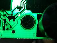 Name: BigBoardS1.jpg Views: 545 Size: 99.6 KB Description: The lighter diagonal lines are on the bottom of the board. The circle around the screw is white ink. No connections made to the circuit.