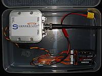 Name: DSC01173.jpg Views: 138 Size: 179.2 KB Description: UHF LRS TX, serializer, UBEC, FUTABA TX