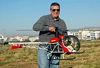 Name: Vario Bell 47g II 1.jpg Views: 3087 Size: 103.3 KB Description: One of my other toys. (I couldn't resist) 1/6 scale Bell 47g II (Vario helicopters) 23cc Zenoah gasoline engine.
