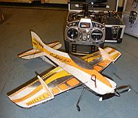 Name: Sphinx Mini Jamara AR 6400.jpg Views: 141 Size: 247.9 KB Description: test fly condition, no battery bay yet but a piece of tape to search for the right positionning