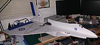 Name: 150% Aero Vulcan 5.jpg Views: 36 Size: 84.5 KB Description: Avro Vulcan pimped out with some window decals and insignias cut from vinyl packing tape